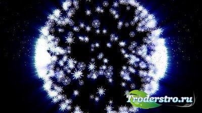 HD Футаж - Kруговорот снежинок