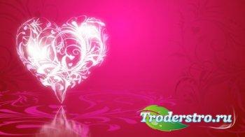 Футаж - Сверкающее сердце