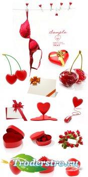 Сборник элементов для влюбленных - растровый клипарт