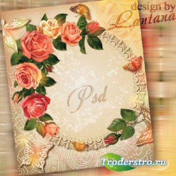 Psd исходник - Воспоминание о розах