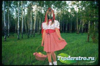 Шаблон для детей - Красная шапочка