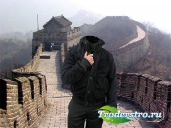 Шаблон для фото - Великая Китайская стена