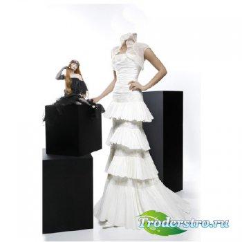 Шаблон для девушек - В белом платье