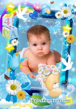 Фоторамка с малышём в PSD - Мой  день рождения