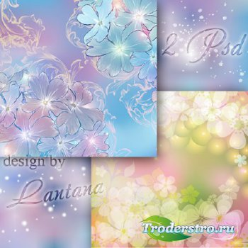 Многослойные фоны - Цветочный хоровод