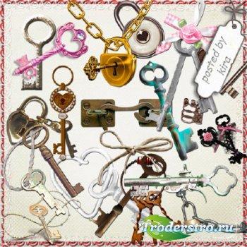 Клипарт для творчества - Ключи и замки