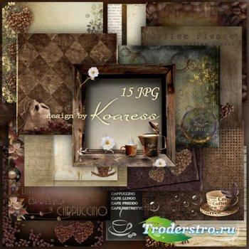 Сборник кофейных фонов для дизайна