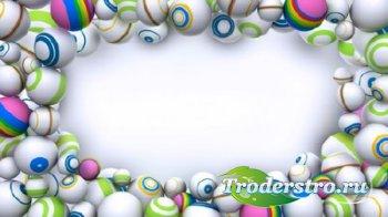 Футаж - Композиция из шаров