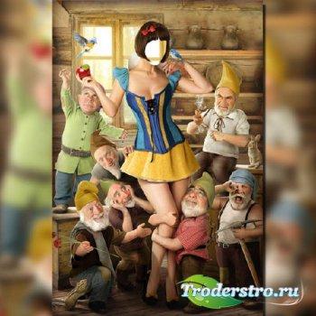 Шаблон женский - Белоснежка и 7 гномов