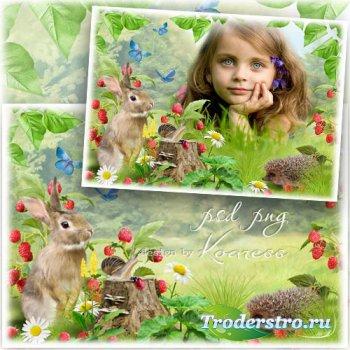 Детская рамка для фото - Лесная ягодка