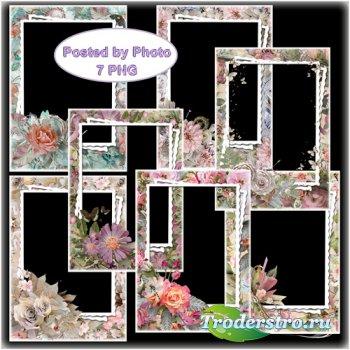 Набор цветочных фоторамок - Божественный аромат