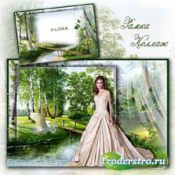 Рамка для фотошопа - Тишиною объят сонный лес