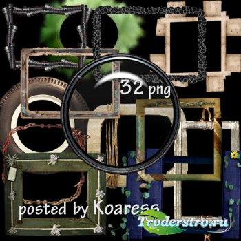 Клипарт для фотошопа - Оригинальные рамки на прозрачном фоне
