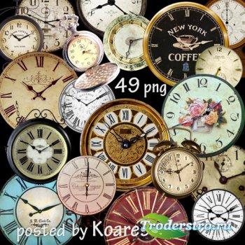 Png клипарт для дизайна - старинные и винтажные часы на прозрачном фоне