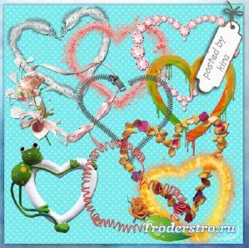 Романтические рамки - сердца