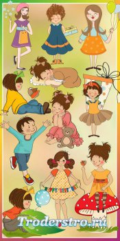 Веселые и жизнерадостные детки - psd files