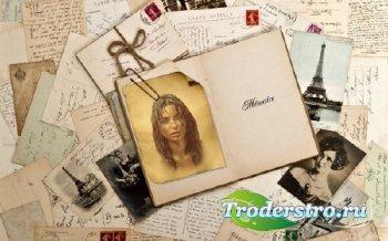 Рамка для оформления - Старинное фото в книге