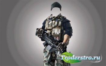 PSD шаблон для мужчин - Спецназ