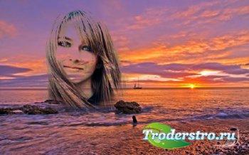 Рамка для фотошоп - Вечернее море
