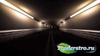 Футаж - Скорость в тоннеле