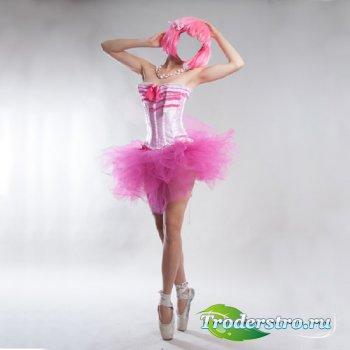 Шаблон для Photoshop - Костюм балерины