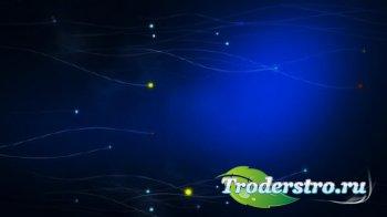 Футаж - Летящие магические огоньки / Chasing Magic HD