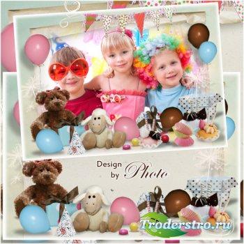 Детская рамка для фото - Наступил мой день рождения