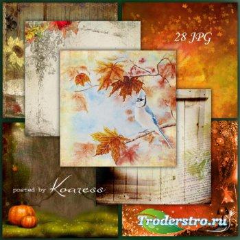 Подборка jpg фонов для работ на осеннюю тематику - Краски осени