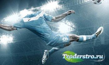 PSD шаблон для мужчин - Футболист