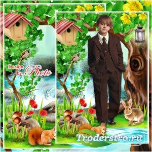 Детская рамка-коллаж для фото - В сказочном лесу