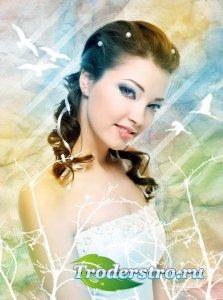 Фотошоп урок - Создание нежного портрета со световыми оттенками