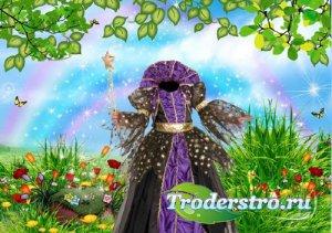 Детский шаблон - Костюм сказочной принцессы
