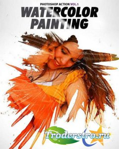 PS Watercolor Painting Action Vol.1
