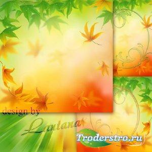 PSD исходник - Осенний кружил ветерок