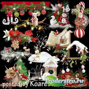 Подборка клипарта png для дизайна - Детские новогодние и рождественские кла ...