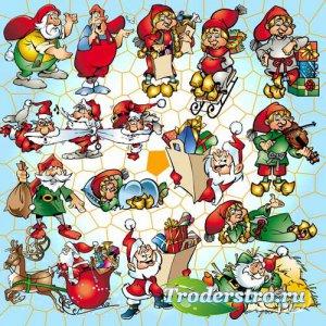 Санта и гномы - psd files