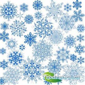 Милые снежинки - psd files