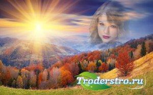 Рамка для фотошоп - Уж небо осенью дышало