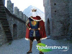 Photoshop шаблон - Великий король в замке
