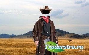 PSD шаблон для мужчин - Дикий запад