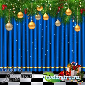 PSD исходник - Волшебный праздник новогодний 9