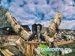 Шаблон для фото - Запасаем дрова