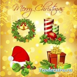 Новогодний и рождественский клипарт - psd files