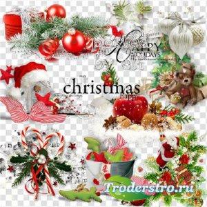 Новогодние, рождественские клипарты, кластеры, вырезы png - Украшения к люб ...
