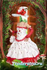 Фотошоп шаблон для девочек – В нарядном платье