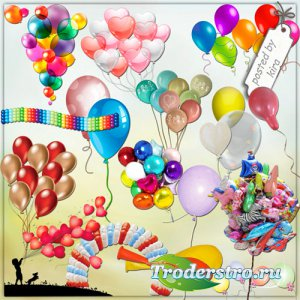 Праздничный клипарт - Много, много воздушных шариков