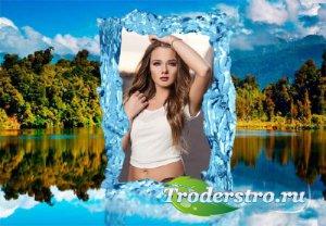 Рамка для фотошоп - Горное озеро