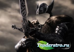 Воин фэнтези с мечом - Фото шаблон