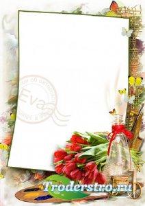 Рамочка для фотографий - Весенние яркие краски