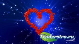 Футаж - Влюбленные сердца